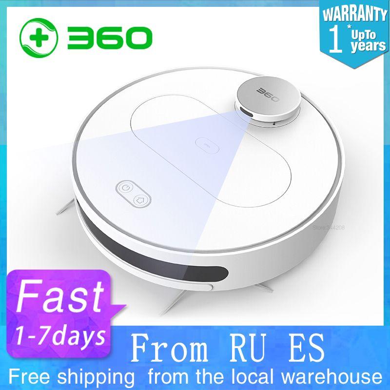 360 S6 Roboter-staubsauger Für Home durch handy Reinigung Kehr Waschen Mopp Sterilisieren Laser LDS Smart Geplant Wifi