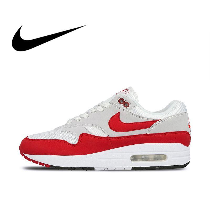 Nike AIR MAX 1 ANNIVERSARY Mens Running Shoes Sport Outdoor Sneakers Athletic Designer Footwear 2019 New Arrival 908375-103