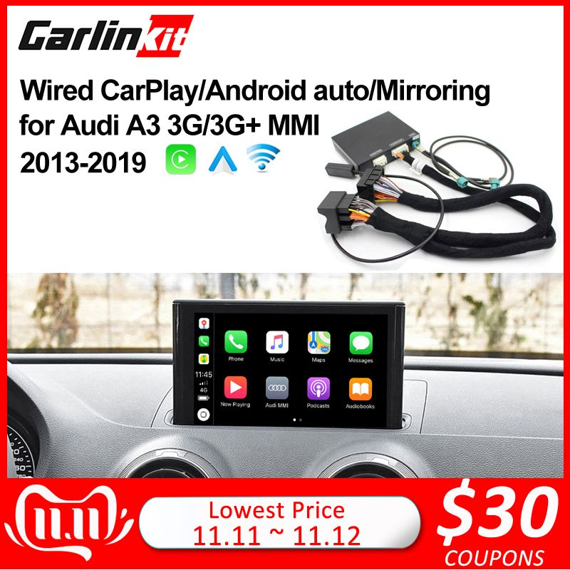 2019 Apple CarPlay Android Auto Wireless Decoder für Audi A3/Q2 MMI Original bildschirm iOS & Reverse bild Nachrüstung kit