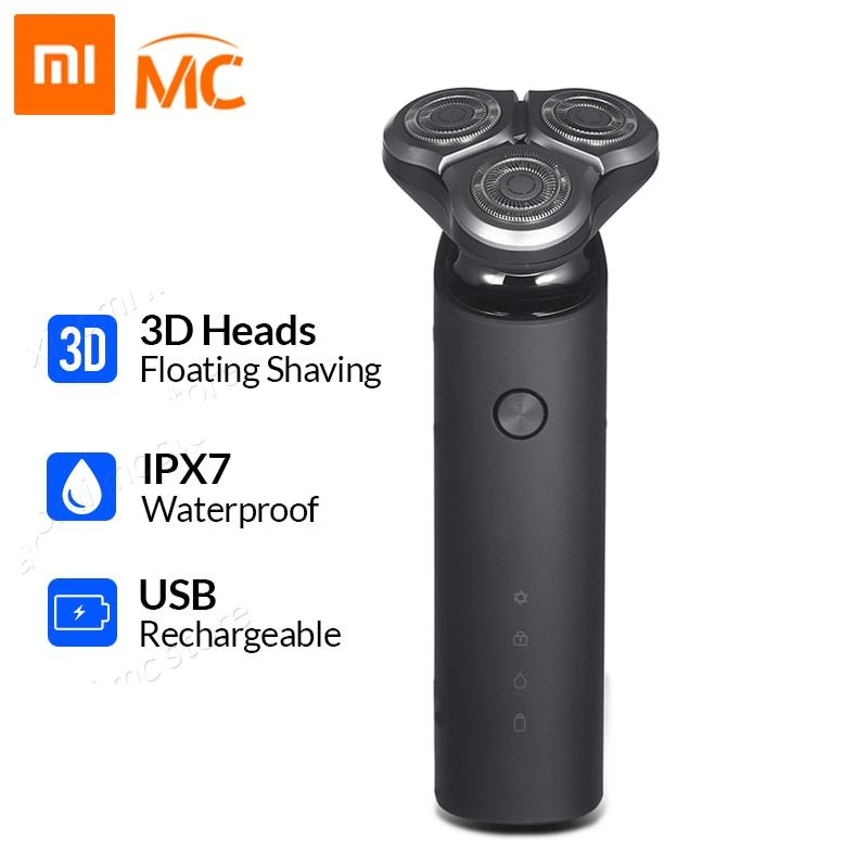 Xiaomi Mijia rasoir électrique pour hommes Rechargeable Flex rasoir 3 tête sèche humide Machine à raser tondeuse à barbe lavable double lame
