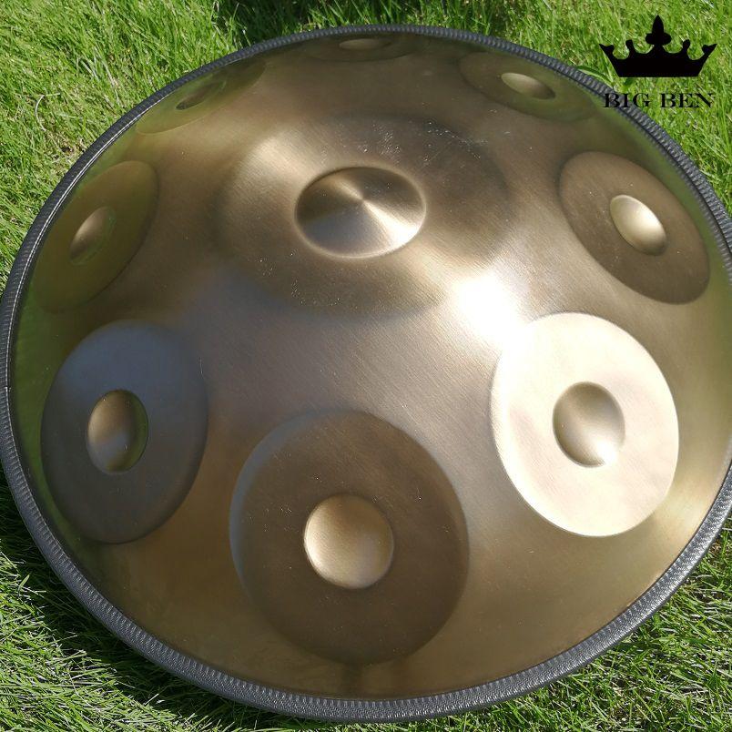 Goldene 9 töne 10 töne Kurd Natürliche D kleinere HandPan Stahl Trommel nitrieren rost Hängen Trommel percussion trommel tasche zubehör handpan