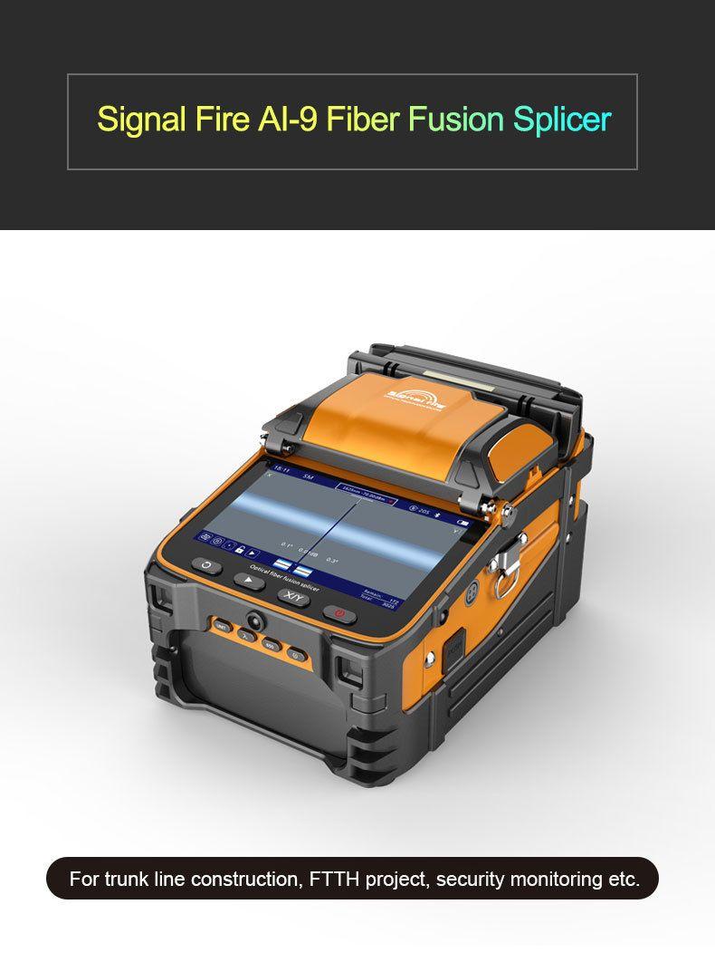 Signal Feuer 5 Zoll TFT Screen AI-9 Fiber Fusion Splicer FTTH Projekt 6 Motoren Optische Power Meter VFL