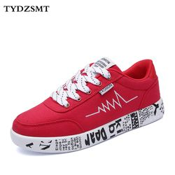 TYDZSMT 2020 Fashion Women Vulcanized Shoes Sneakers Ladies Lace-up Casual Shoes Breathable Walking Canvas Shoes Graffiti Flat