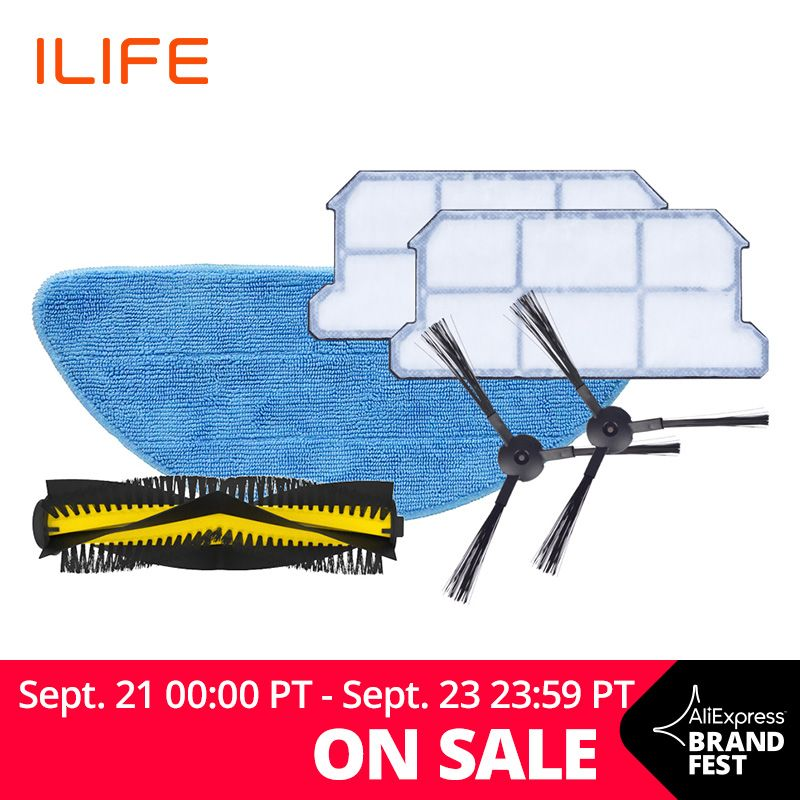 ILIFE V7s Plus Spare Replacement Kits Filter Mop Cloth Side Brush