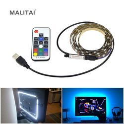 TV Backlight RGB LED Strip 5050 Waterproof 5V USB LED Tape String Bias lighting For HDTV Screen Desktop PC LCD Monitor Decor