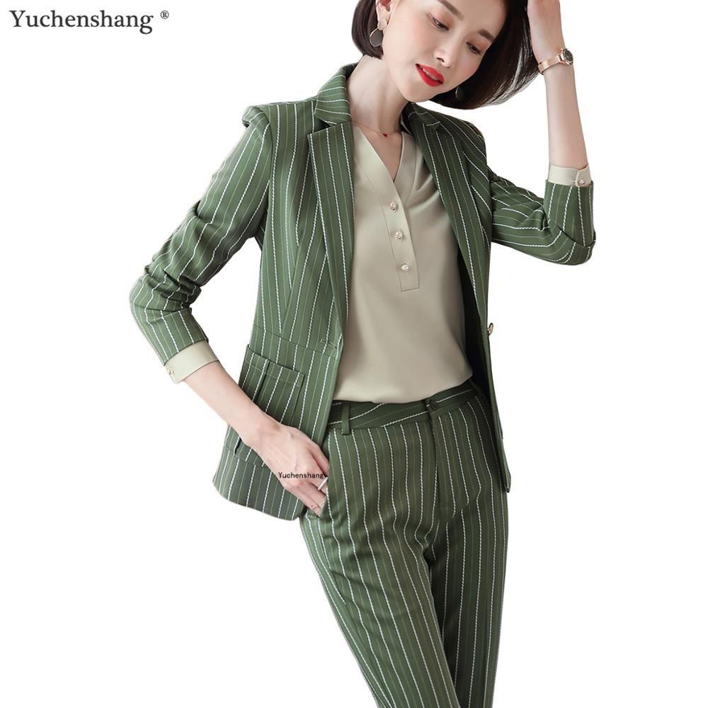 Mode frauen beiläufige kurze hose anzug größte größe 5XL Grün Rosa Gestreiften anzug Jacken Und hose 2 Stück sets anzüge