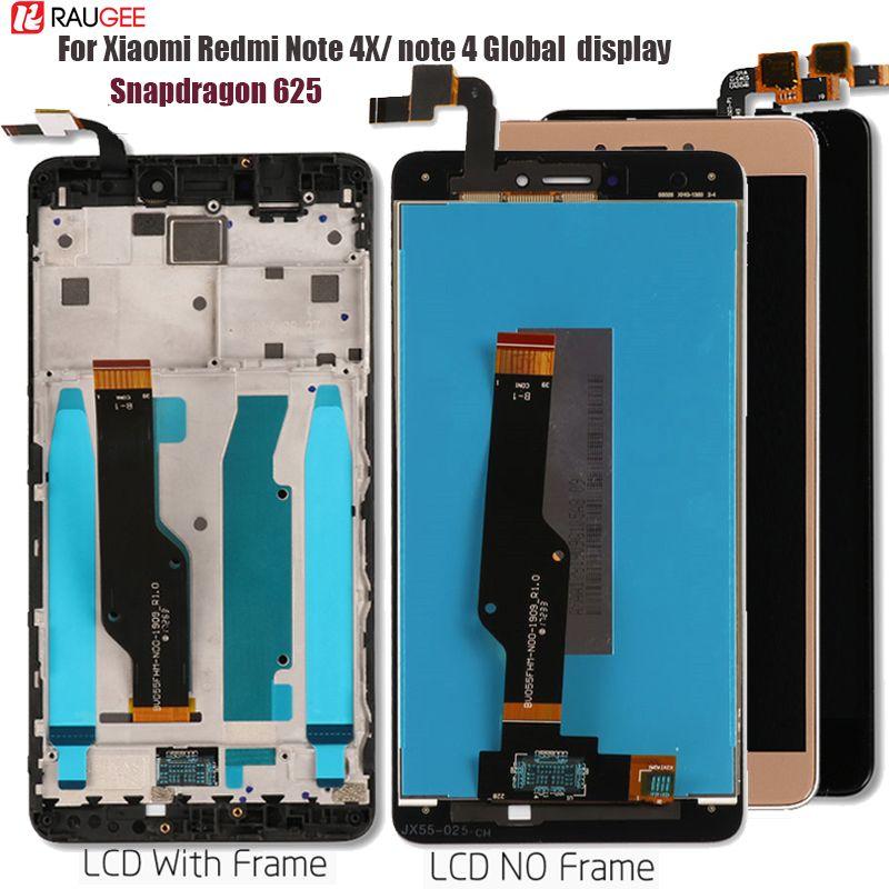 Pour Xiaomi Redmi Note 4X/4 écran LCD Global remplacement de l'écran tactile pour Redmi Note 4 Snapdragon 625 Octa Core Display 5.5''