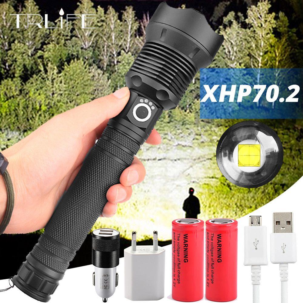 120000 Lumens XLamp XHP70.2 plus puissant lampe de poche LED USB Zoom torche XHP70 XHP50 18650 26650 batterie Rechargeable lampe de poche