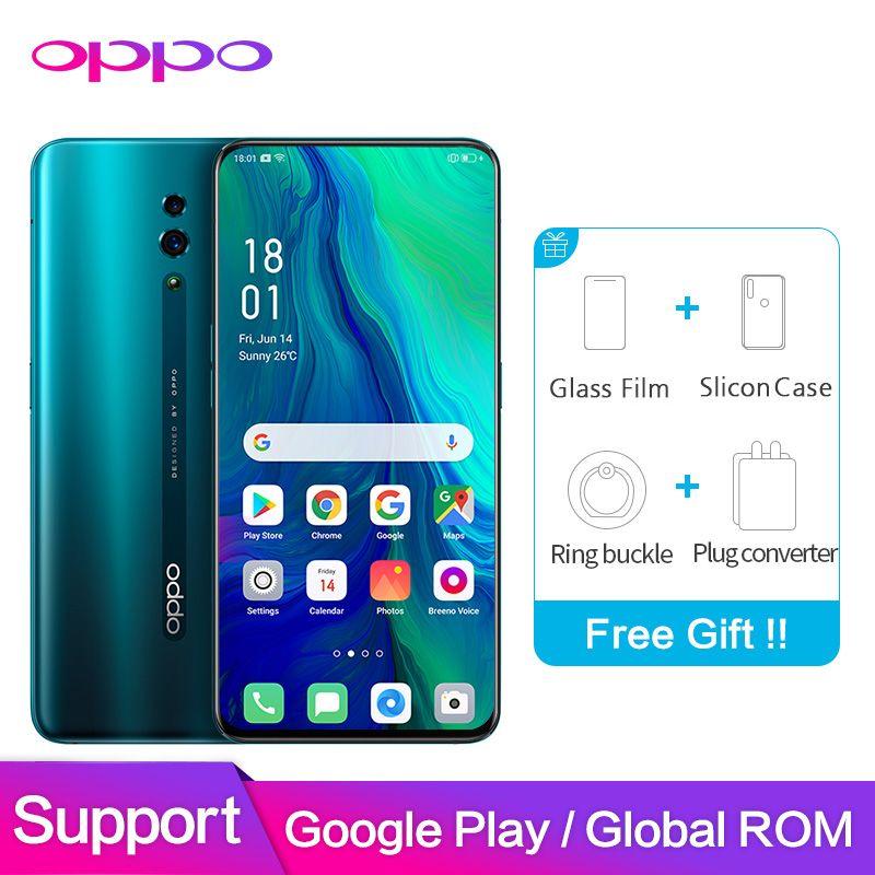OPPO Reno Globale ROM 6GB 128GB Unterstützung NFC Google Software 48MP + 5MP 3765mAh Snapdragon 710 Octa core Smart Handy