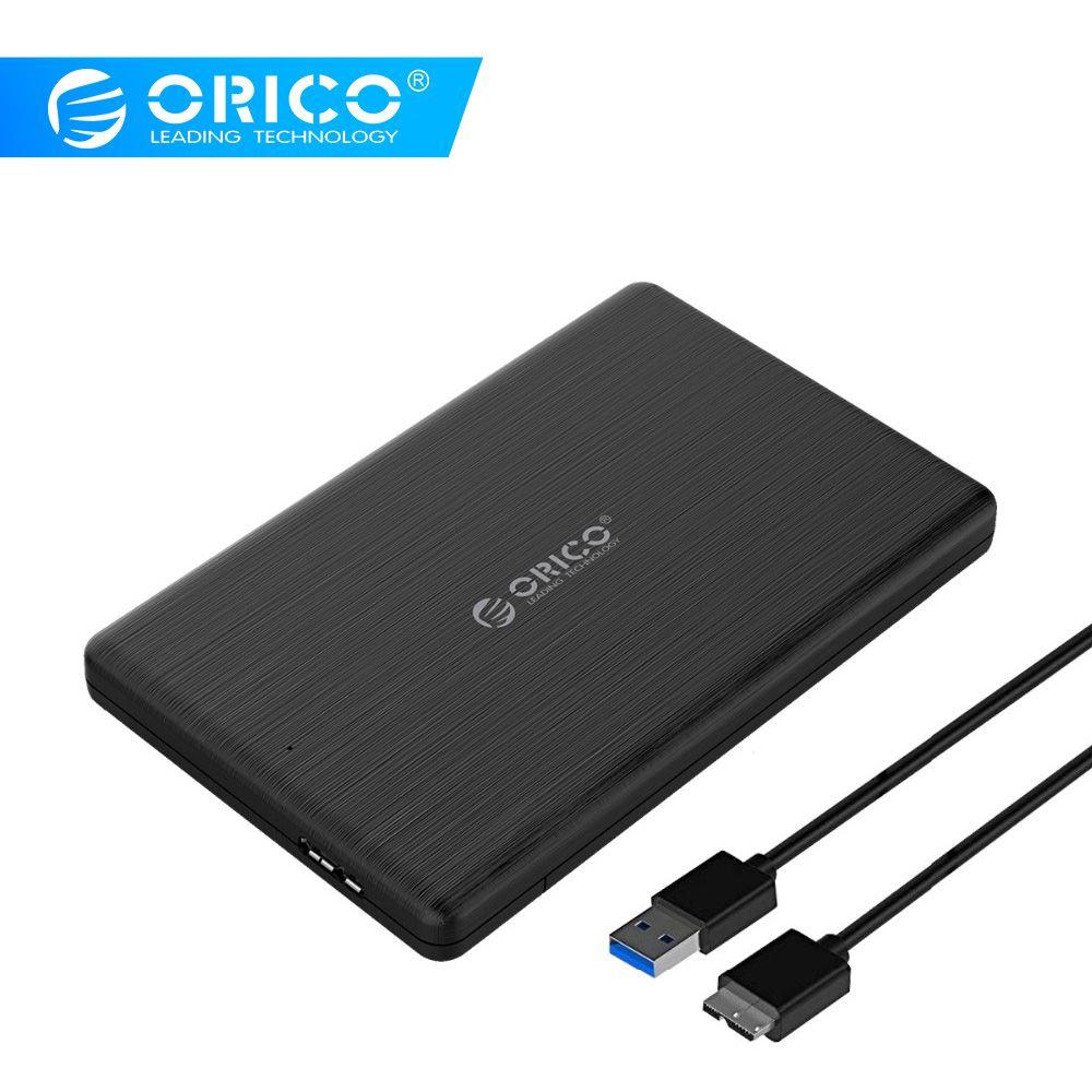 ORICO 2578U3 2.5 pouces boîtier ssd USB3.0 Micro B boîtier de disque dur externe boîtier haute vitesse pour 7MM Support UASP SATA III