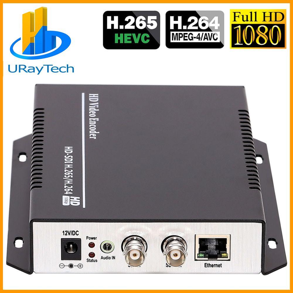 URay HEVC H.265/H.264 HD/3G SDI Zu IP Live-Streaming Video Audio Encoder HTTP, RTSP, RTMP, UDP, ONVIF