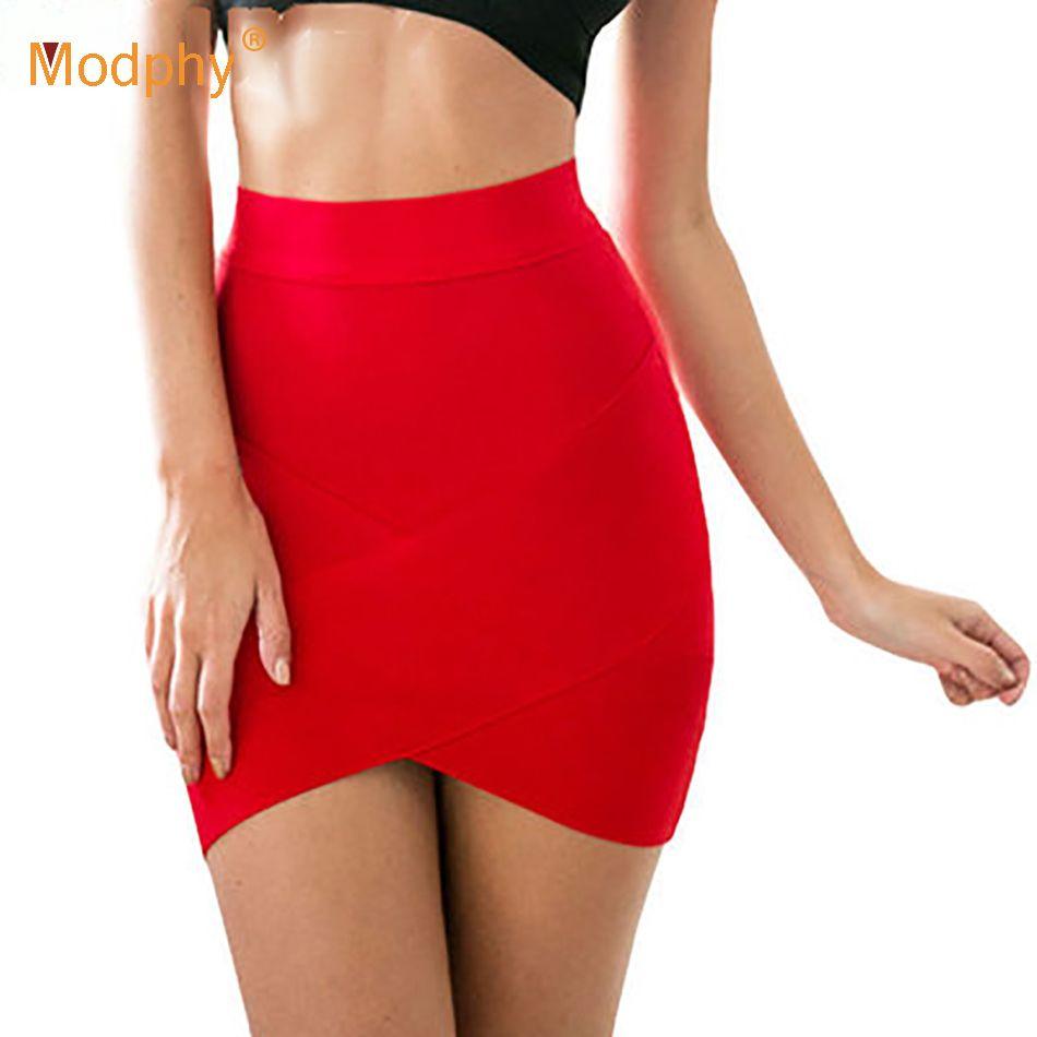 Femmes chaud court élastique rayonne Bandage jupe Mini Sexy Slim serré crayon boîte de nuit fête bonbons 12 couleurs livraison directe HL135-2