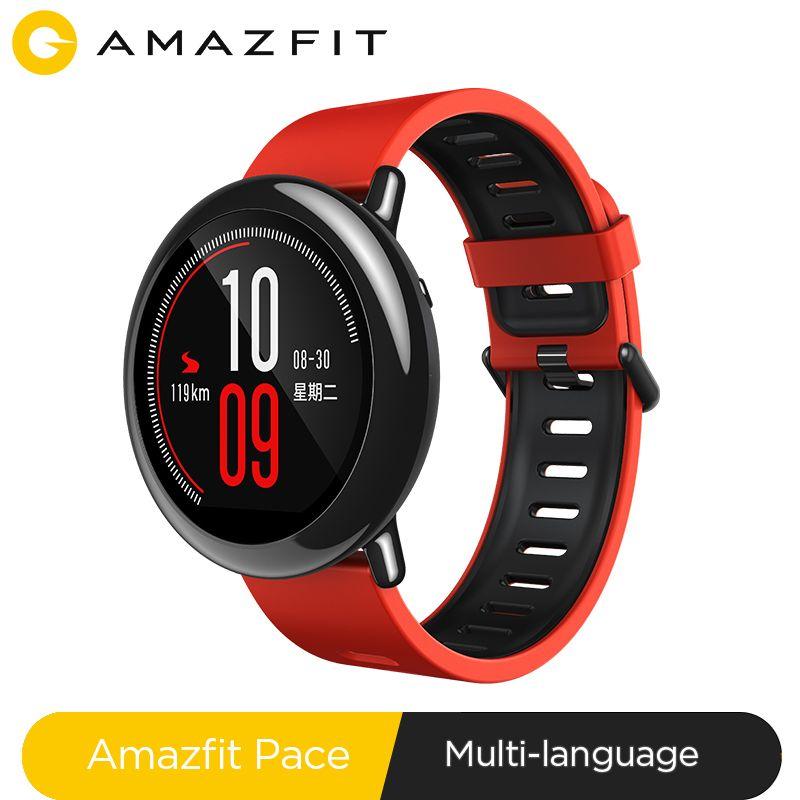 Nouveau Amazfit Pace Smartwatch Amazfit montre intelligente Bluetooth musique GPS Information poussée fréquence cardiaque pour Xiaomi téléphone redmi 7 IOS