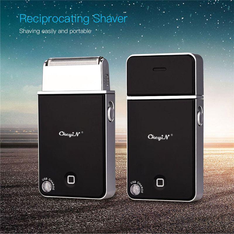 Mini rasoir électrique Portable mince rasoir hommes voyage USB Rechargeable épilation alternative tondeuse à barbe outil de soins du visage 47