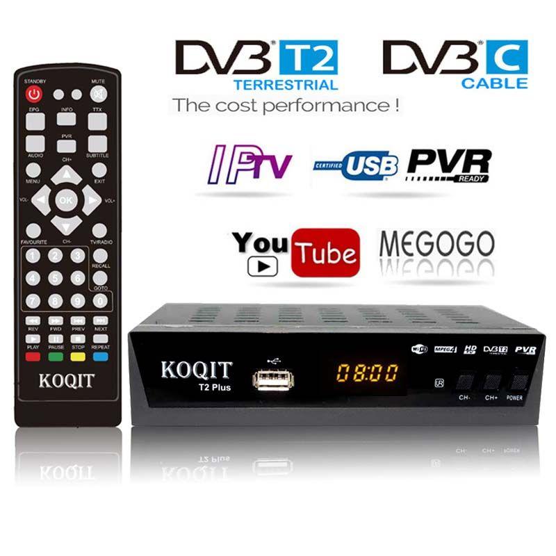HD DVB-C DVB-T2 Récepteur Satellite Wifi Gratuit Boîte De TÉLÉVISION Numérique DVB T2 DVBT2 Tuner DVB C IPTV M3u Youtube Manuel Russe Décodeur