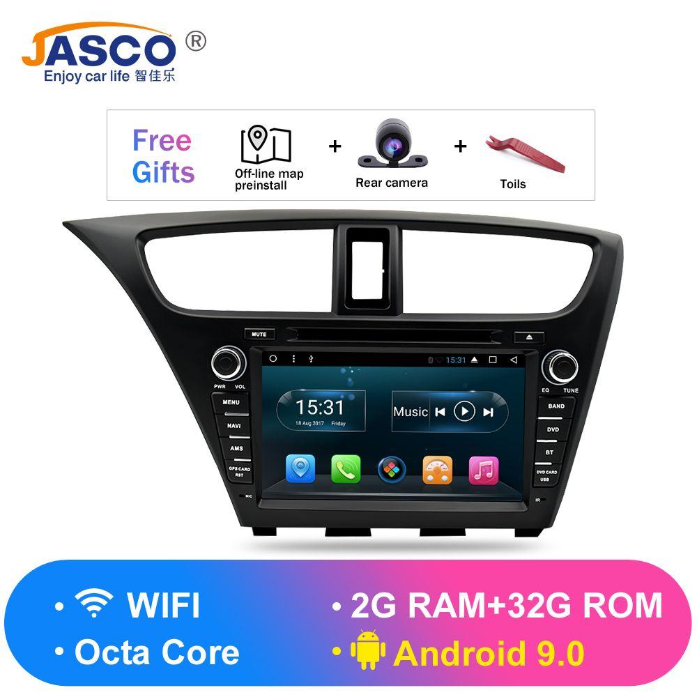 Android 9.0 Auto Stereo DVD Für Honda Civic Hatchback 2013 + Auto Radio RDS GPS Glonass Navigation Audio Video Multimedia Bluetooth