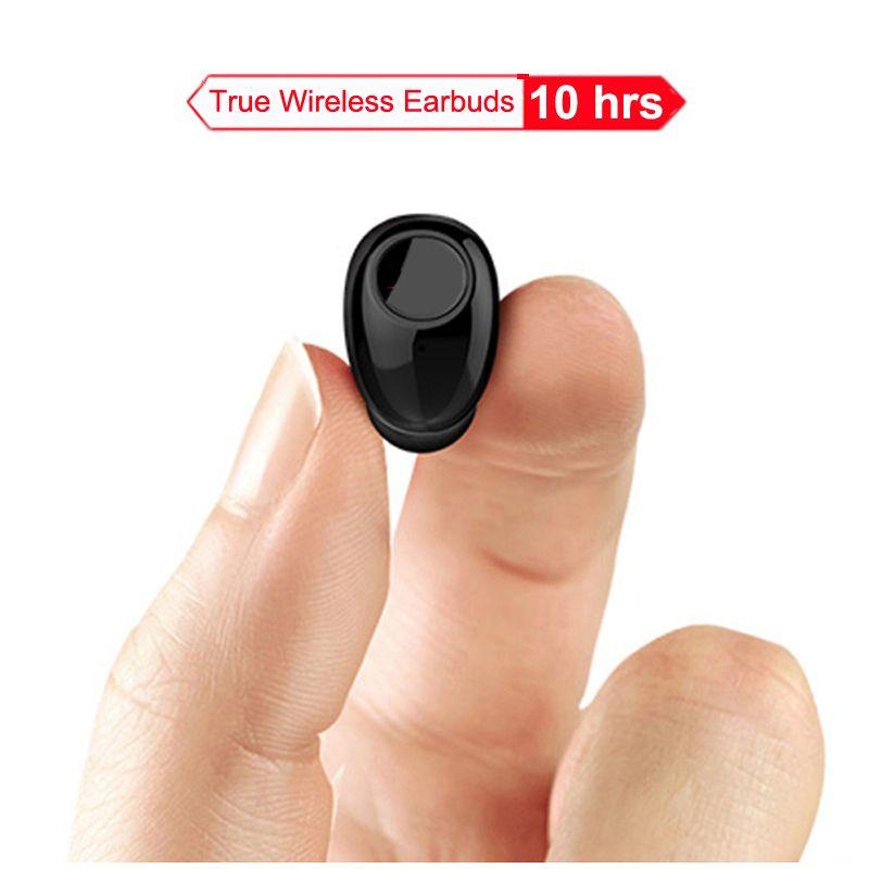 NVAHVA Mini Bluetooth Écouteurs 10 Heures de Travail, Bluetooth Casque Sans Fil Intra-auriculaires Écouteurs Mains Libres Pour Voiture Téléphone de Conduite Sport