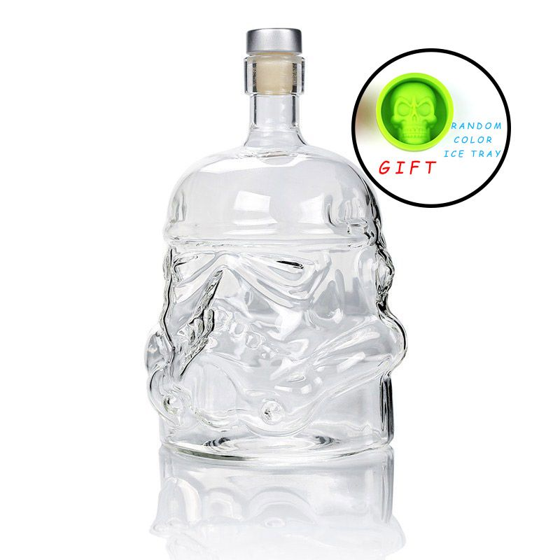 Cool Star Wars Storm trooper Helmet Whiskey Decanter Crystal Glass Wine Decanter Bottle Magic Aerator Wine Glasses Accessories