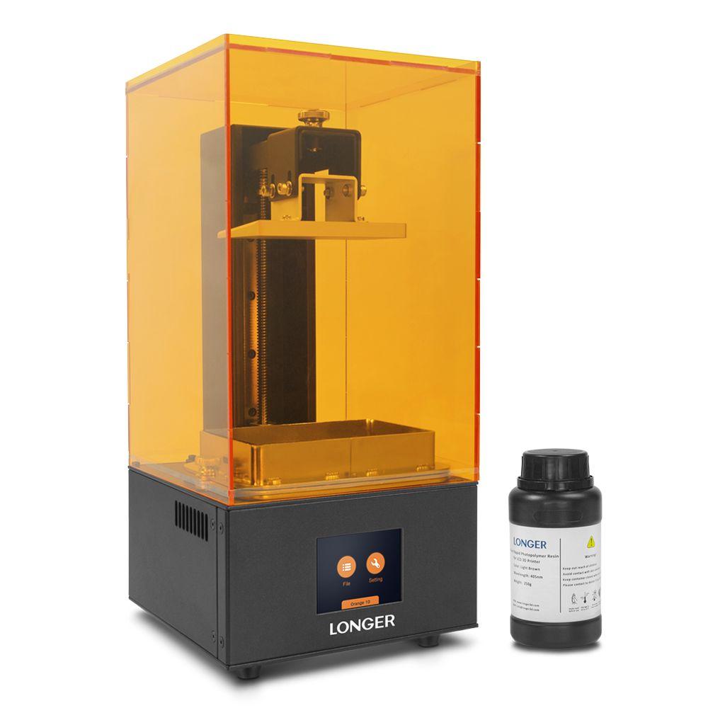 LONGER Orange10 3D Drucker Erschwinglichen SLA 3D Druck Intelligente Unterstützung Schnelle Schneiden UV-Licht Härtende Einfach Bedienen Entry Ebene