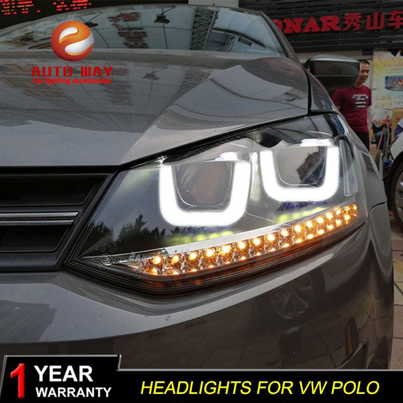 Auto Styling Kopf Lampe fall für VW Polo Scheinwerfer 2011-2018 LED polo Scheinwerfer Tagfahrlicht Bi- xenon HID Zubehör