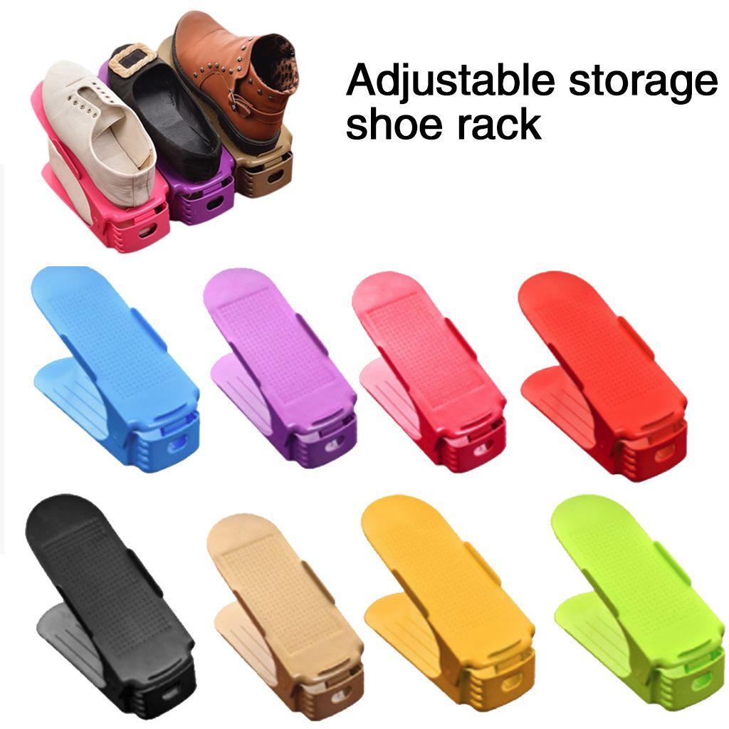 10 pièces étagère à chaussures Durable réglable organisateur de chaussures chaussures Support de stockage meuble peu encombrant placard Stand chaussures