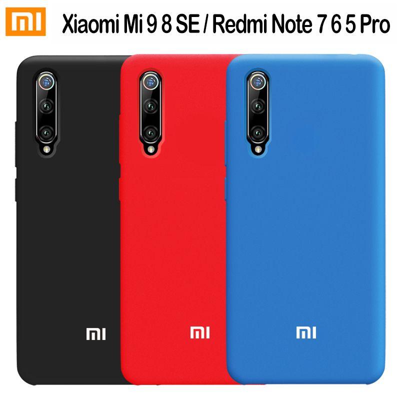 Xiaomi Mi 9 Case Original Silicone Soft Protection Cover Xiaomi Mi 9 Lite 8 SE 9T A3 Lite Case Redmi Note 8 7 6 5 Pro 7S 7A Case