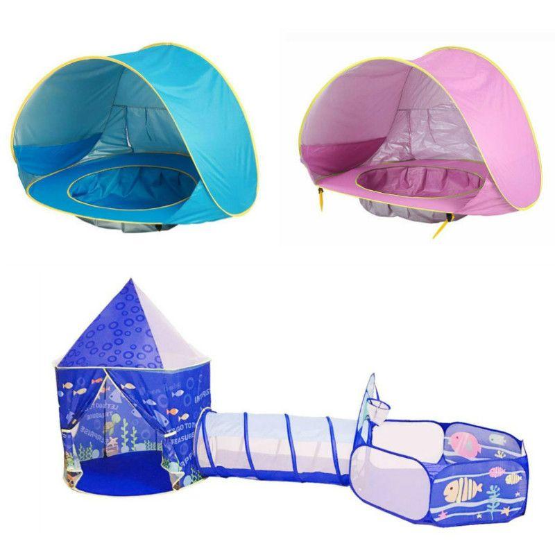 Multicolore bébé tente pour enfants pliable jouet enfants en plastique maison jeu piscina de bolinha jouer gonflable tente cour balle piscine