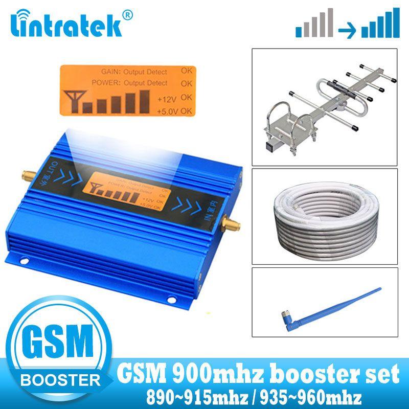 Mini répéteur LCD GSM 900Mhz 2G répéteur de Signal de téléphone portable répéteur de Signal cellulaire gsm 900 2g amplificateur + câble + antenne Yagi