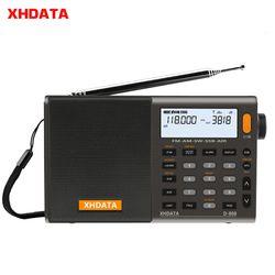 Xhdata D-808 Portabel Digital Radio Stereo FM/SW/Mw/LW SSB Air RDS Multi Band Radio Speaker dengan LCD Display Alarm Clock
