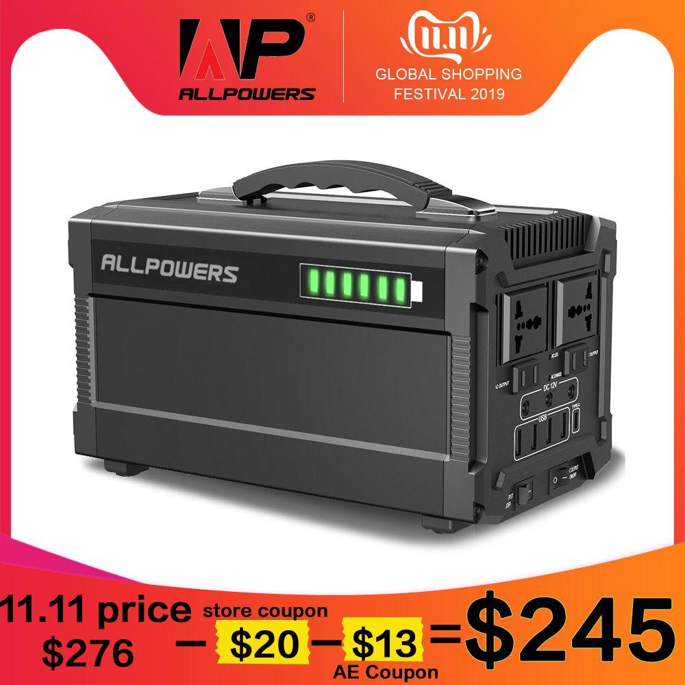 ALLPOWERS 220V Power Bank 78000mAh Tragbare Generator Power Station AC/DC/USB/Typ-C mehrere Ausgang UPS Power Batterie.