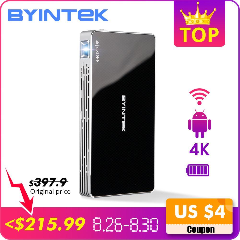 BYINTEK UFO P10 poche Home cinéma Portable intelligente Android 7.1.2 OS Wifi Mini HD projecteur LED pour Full HD1080P MAX 4K à HD