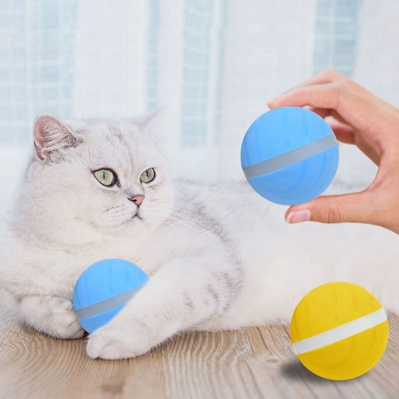 Pet Toys Magic Roller Ball Toy USB Electric Pet Ball LED Rolling Flash Ball Pet Toy Jumping Ball Fun Toys For Puppy Cats dogs