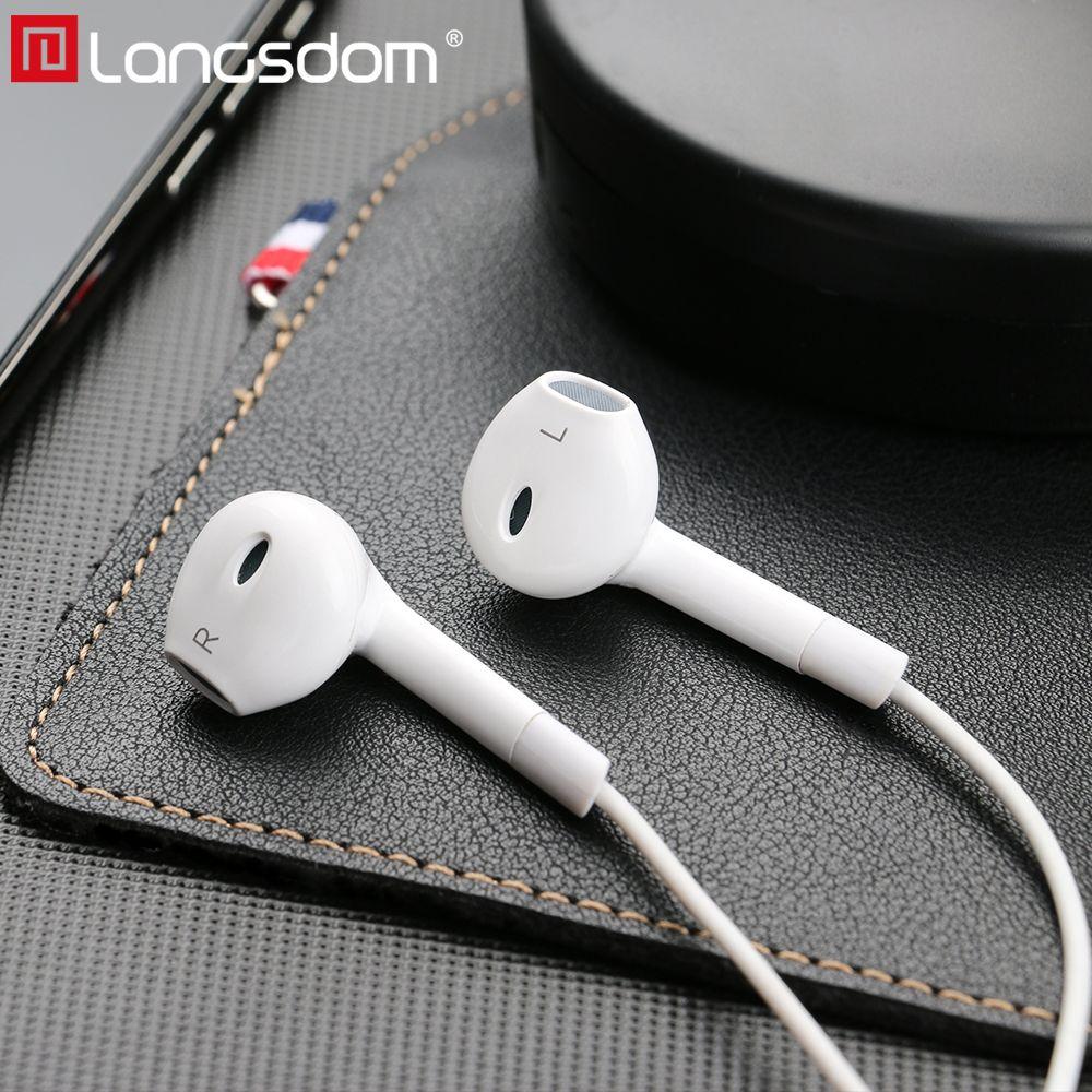 Langsdom Hifi écouteur in-ear basse casque avec micro à distance 3.5mm auriculares écouteurs pour iPhone fone de ouvido Audifonos Mp3 Dj