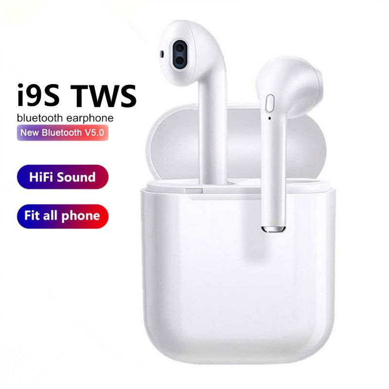 i9s TWS Wireless Earphone Earbuds 5.0 Bluetooth Headset Sport Headphone Invisible Earbud with MIC For iPhone X all smart phone