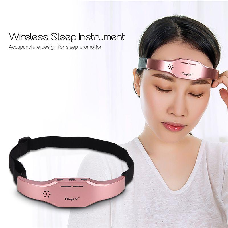 Impulsion basse fréquence stimuler masseur de tête sans fil soulagement du Stress casque de Massage du cerveau appareil de thérapie du sommeil unisexe aide au sommeil