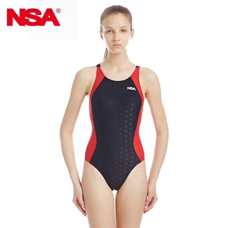 NSA compétition professionnelle sport une pièce triangle imperméable maillots de bain femmes formation maillots de bain maillot de bain