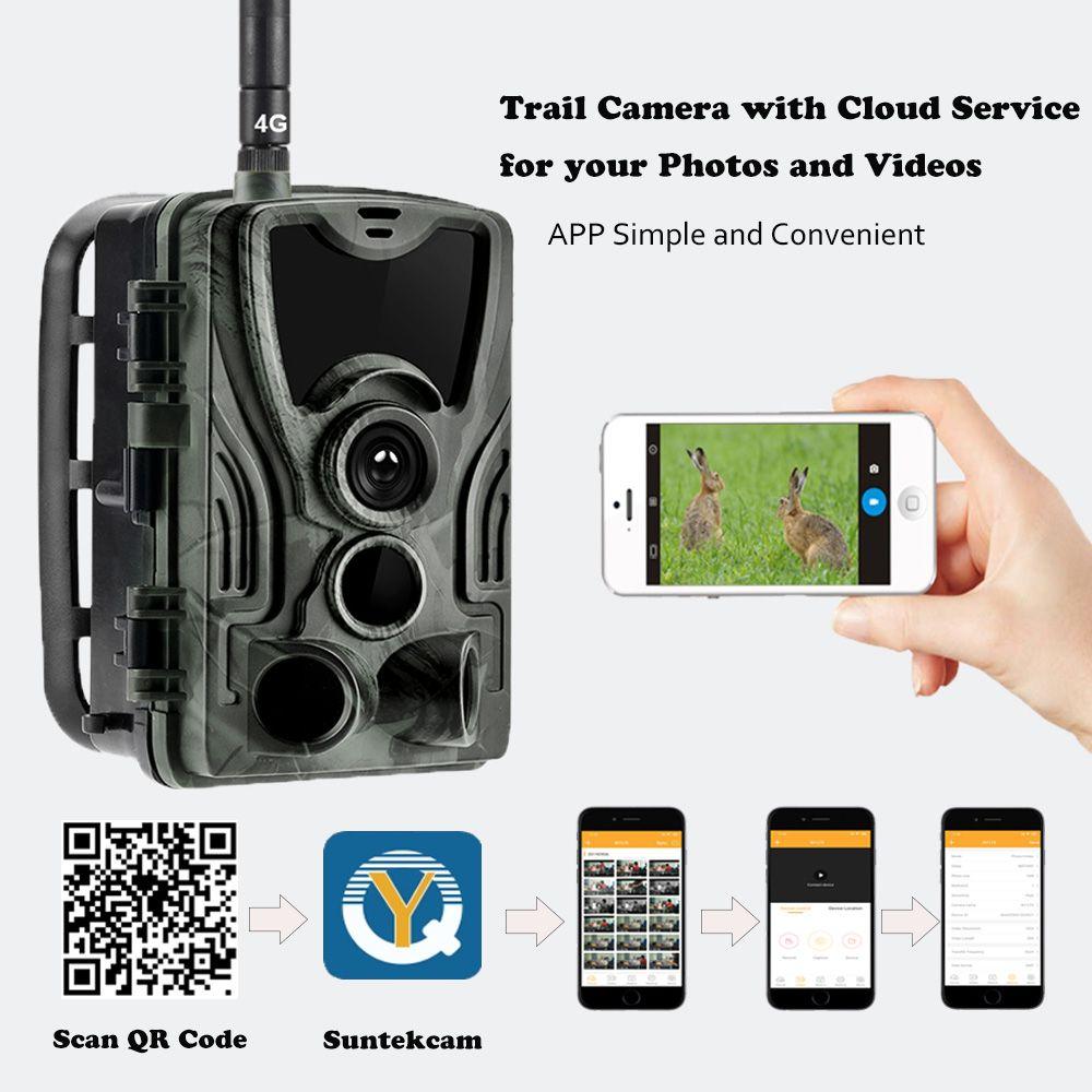 Freies APP Cloud Service 4G Trail Kamera Wildlife Jagd Überwachung Cellular Mobile Drahtlose Kameras HC801LTE 16MP 0,3 S Trigger