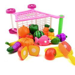 Kids Mini Plastic Simulation Shopping Mall Supermarket Cart Trolley Toy Pretend Play House Handcart Holder Girls Children Gift