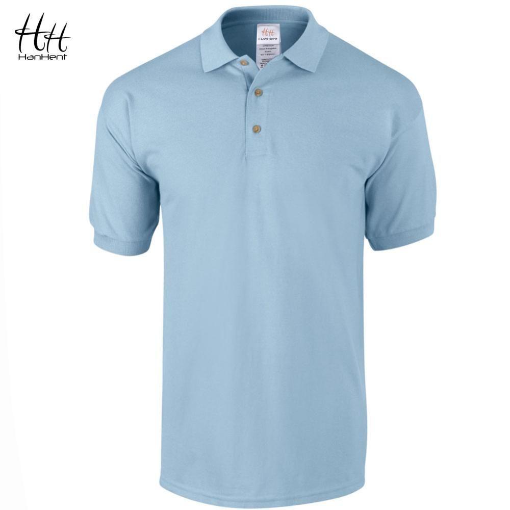 HanHent Bureau D'affaires Polo Chemise 2017 Nouvelle Marque Hommes Vêtements Solide Mens Polo Chemises Casual Poloshirt Coton Respirant