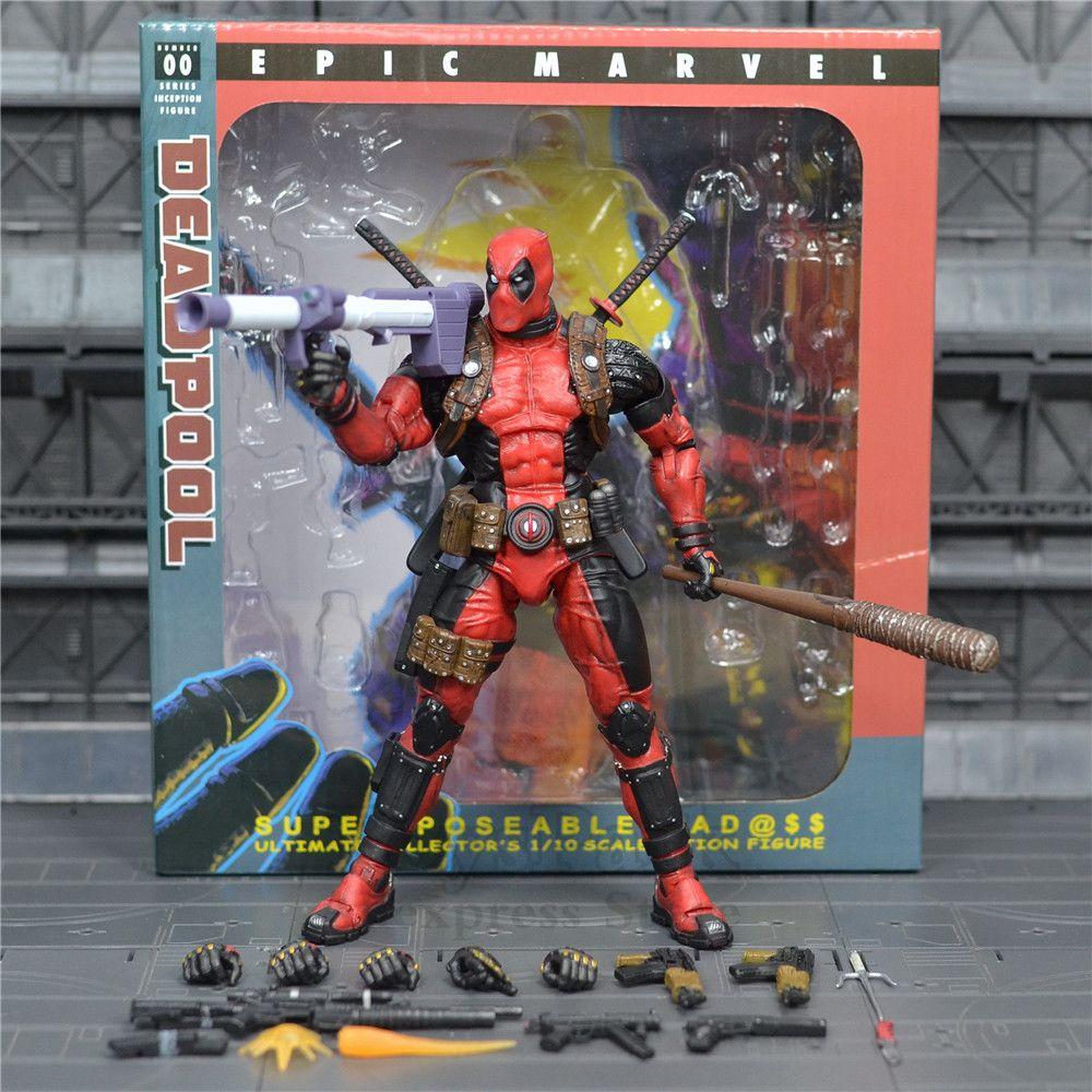 Marvel classiques 19cm Deadpool figurine d'action poupée en PVC modèle KO's NECA 8 ultime caractéristiques spéciales Collection de jouets Super posables