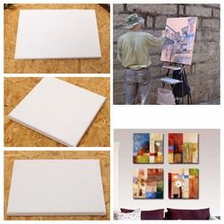 100% Cotton Wood Frame For Canvas Oil Painting Professional Artist Canvas Framed Pre-stretched Cotton Painting