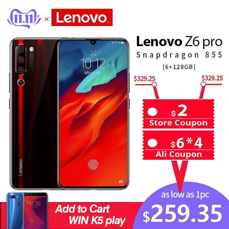 Globale Rom Smartphone Lenovo Z6 Pro Snapdragon 855 Handy 8GB 128GB 2340*1080 6,39
