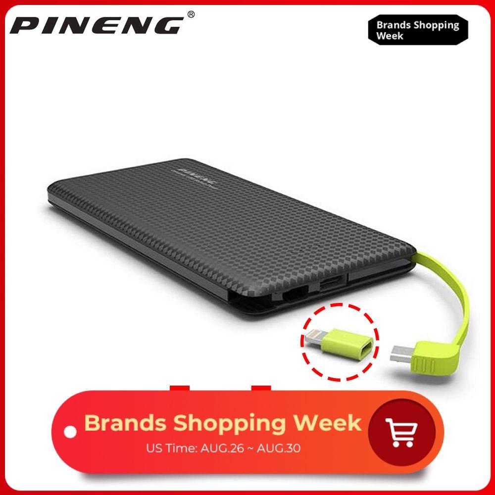 Original Pineng PN951 batterie externe 10000mAh USB câble de chargement chargeur de batterie externe pour iPhone8/X Samsung Xiaomi