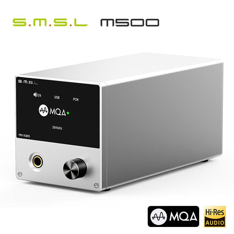 SMSL M500 DAC MQA ES9038PRO ES9311 XMOS XU-216 32bit 768kHz DSD512 Hallo-Res Audio Decoder & Kopfhörer Verstärker