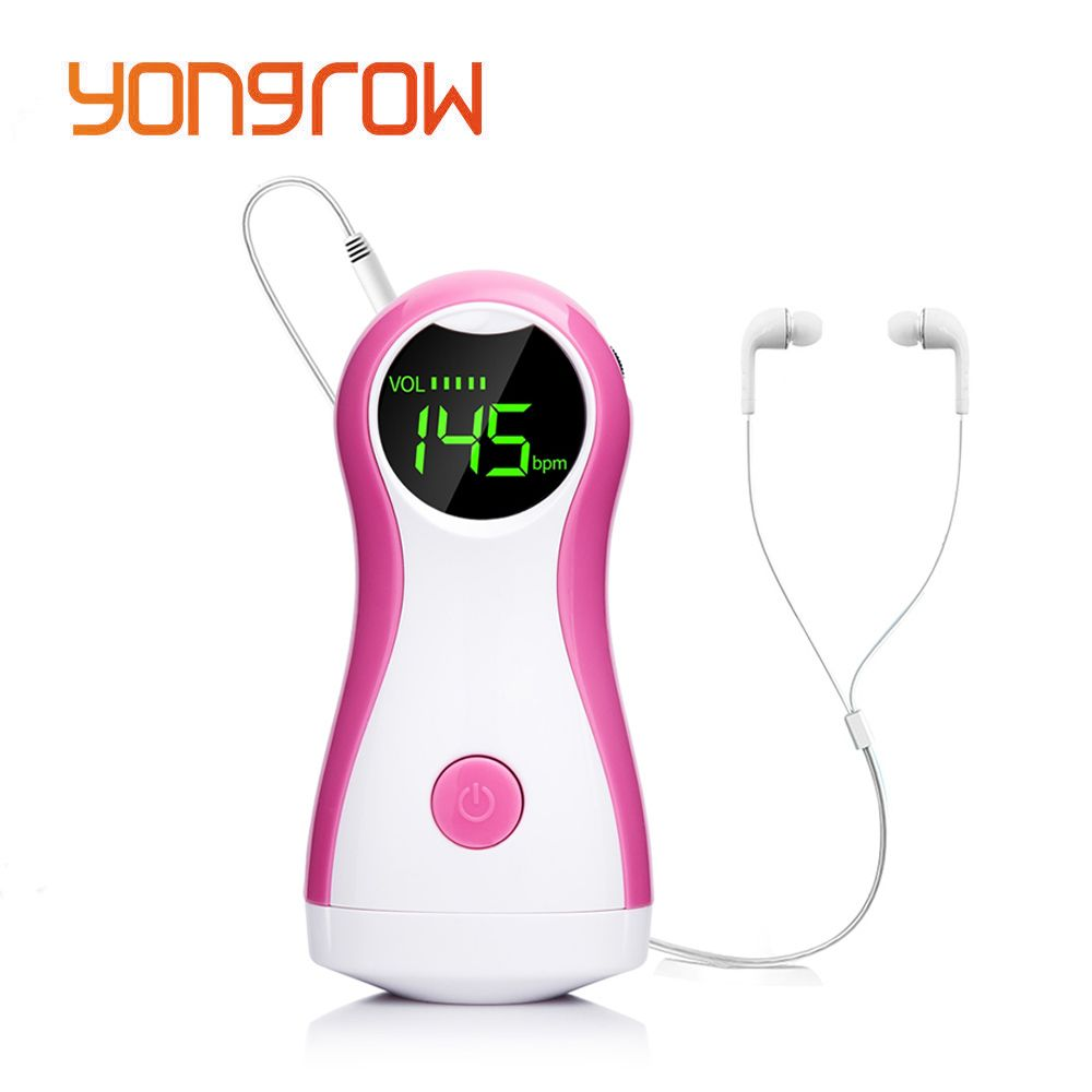 Yongrow DigitalPortable Fetal Doppler Baby Heart Rate Best Fetus Monitor CE Pocket Prenatal Vascular Beat Headset