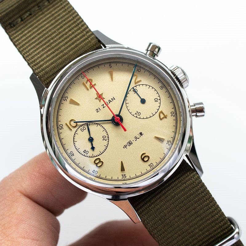 Pilot uhr Seagull uhr 1963 hand-wind Tuch Armband Wasserdichte Uhr mit Transparent zurück fall sapphire glas seagull uhr