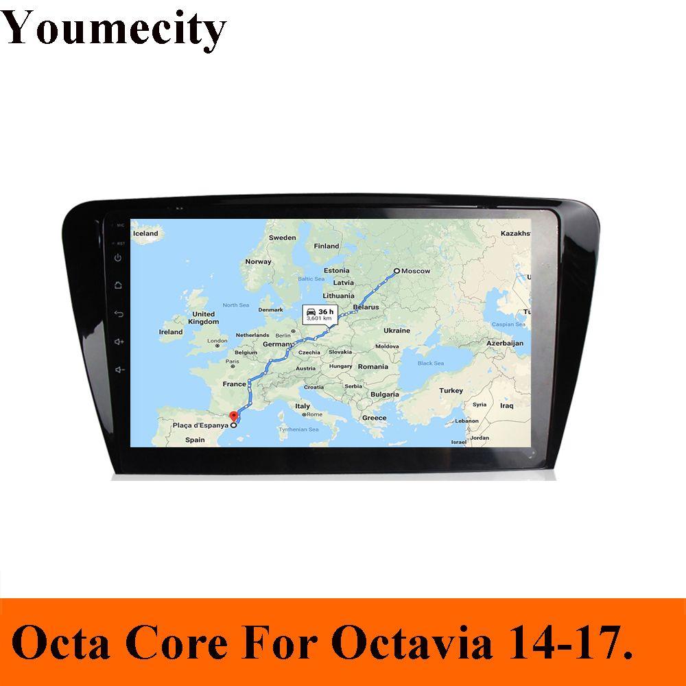 Android 9.0 Auto DVD Player für Skoda Octavia 2014 2015 2016 2017 GPS radio video Multimedia Kapazitive Ips-bildschirm wifi RDS