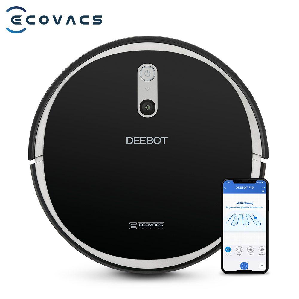 ECOVACS DEEBOT 715 Intelligente Roboter Staubsauger, Smart Navi 2,0, Saug MAX, saugt und Peeling 2 in 1, Gesteuert Durch App, OUTA Update