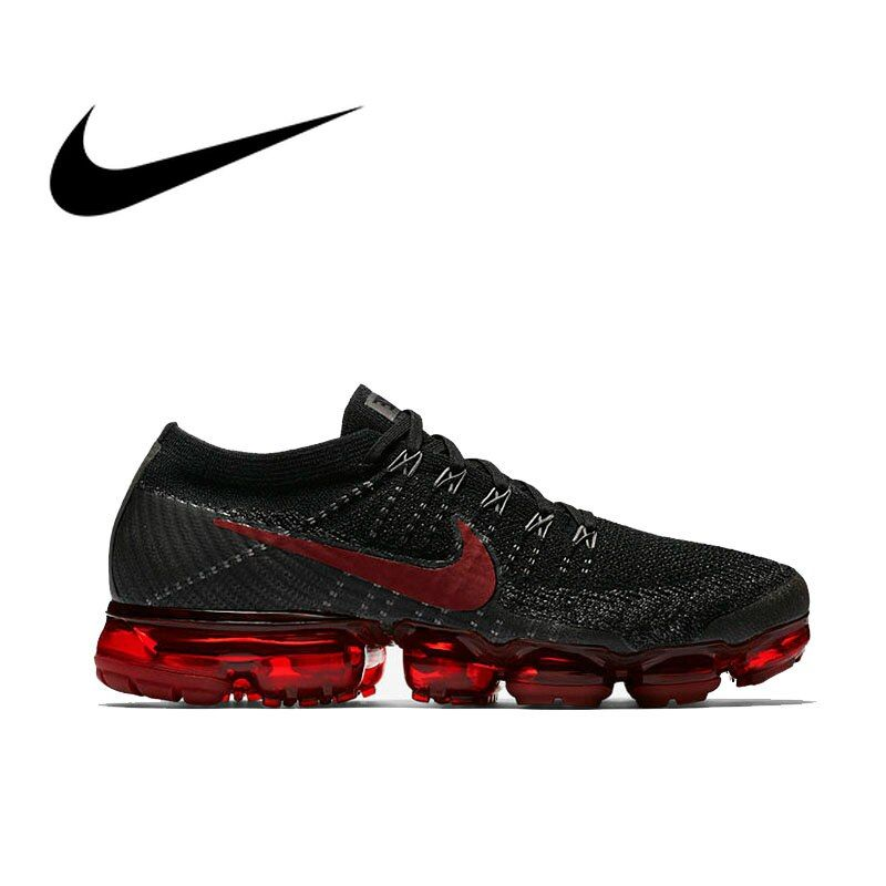 Original Nike Air VaporMax Be True Flyknit Breathable Men's Running Shoes Outdoor Sports Comfortable Durable Jogging Sneakers