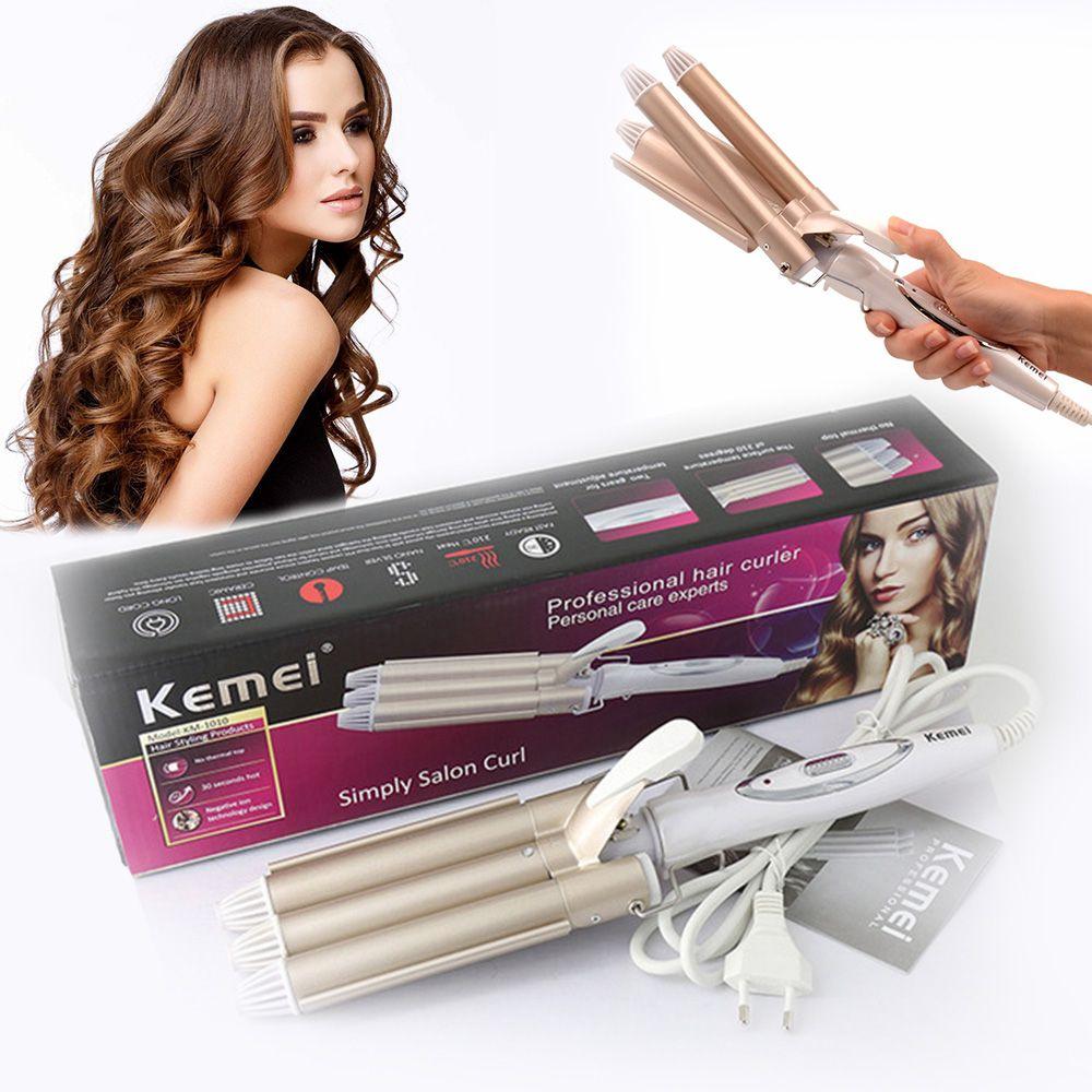 Kemei friser bigoudi professionnel soins des cheveux & outils de coiffure vague cheveux styler fers à friser pince à cheveux krultang fer 5